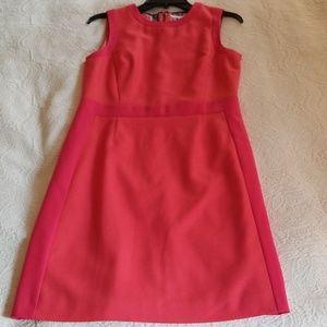 BODEN Pink Sheath Dress Wool Blend Size 6 Business